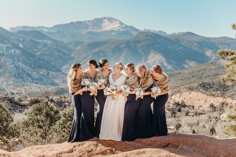 The bride with friends