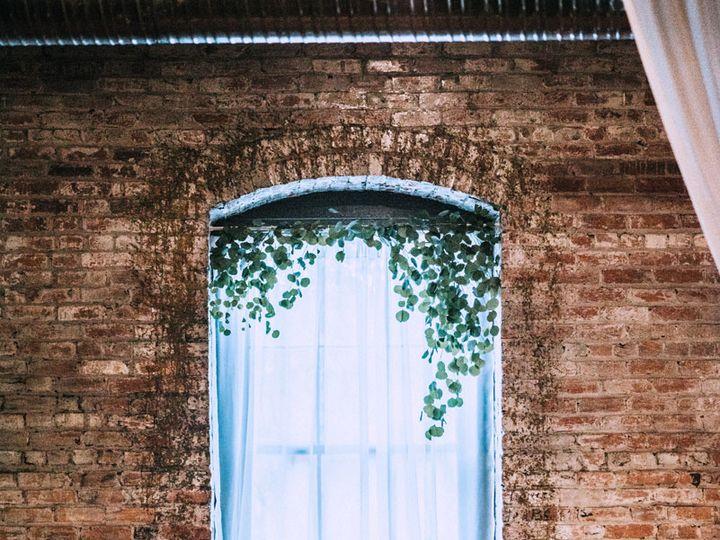 Tmx Qc Event Design Wedding Ceremony Modern Rustic Brick Window Lanterns Eucalyptus Centerpiece Stands 51 1055617 V1 Fort Mill, SC wedding planner