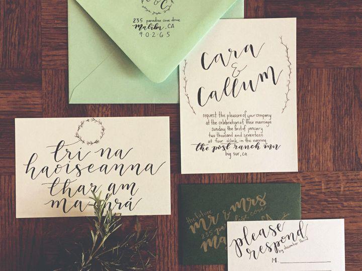 Tmx 1482430440536 Flatlay Los Osos, California wedding invitation