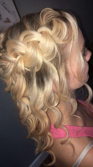 Waves and waterfall braids