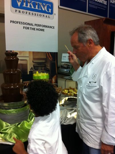 Wolfgang Puck and his son