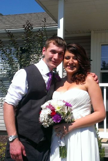 Alexc and Michaella were married at their home in Moscow Mills MO in September 2013