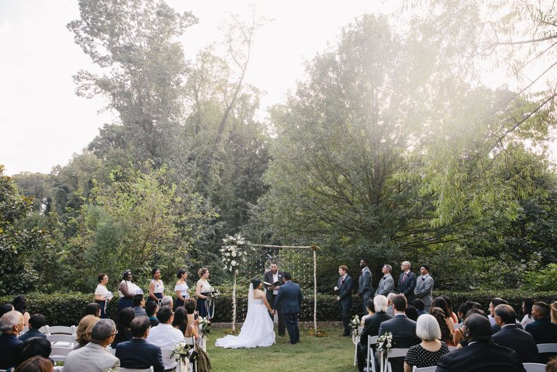 Hydrangea garden ceremony