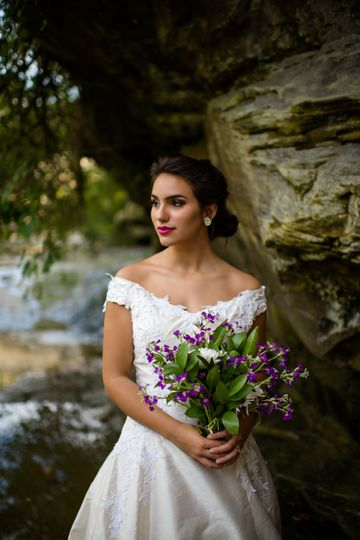 Bridal portrait in the outdoor