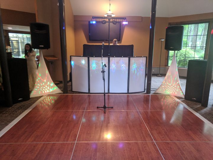 Intimate wedding setup