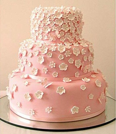 Tmx 1227132966797 Pink Whteflowers Owasso wedding cake