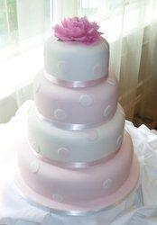 Tmx 1227132969110 Pinkwhite Owasso wedding cake
