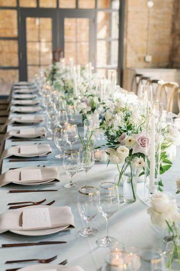 Wedding reception king table