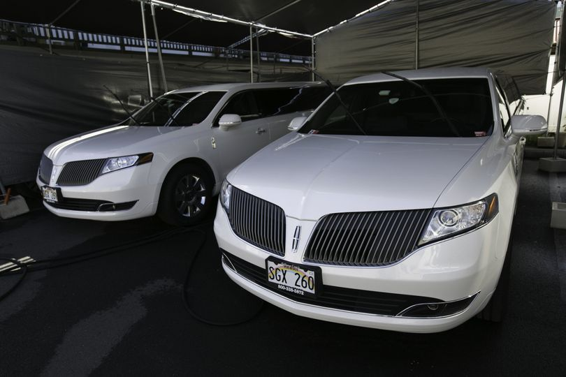 Two Lincoln MKT limos