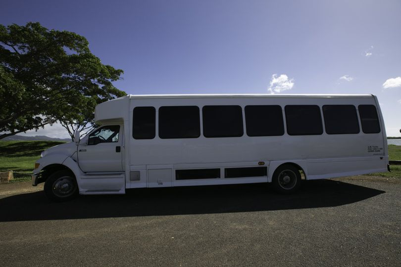 Luxury bus side view