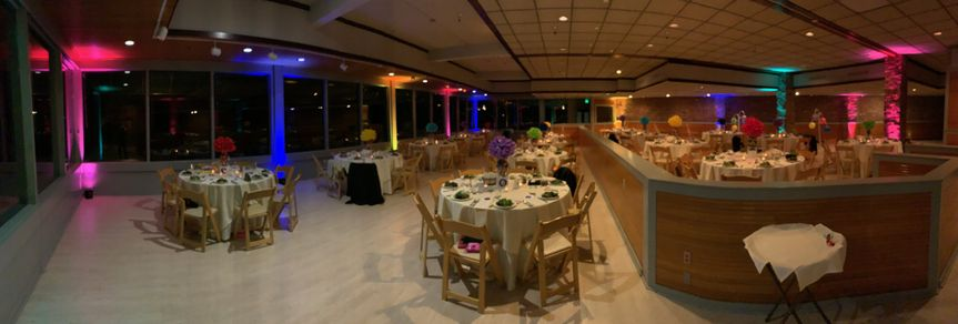 Ballard Bay Club reception setup