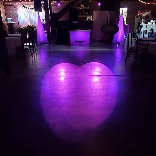 Heart with the lights