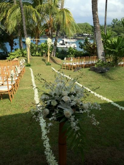 Ocean front wedding ceremony venue