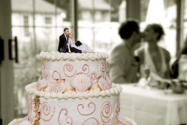 Creative use of the wedding cake.