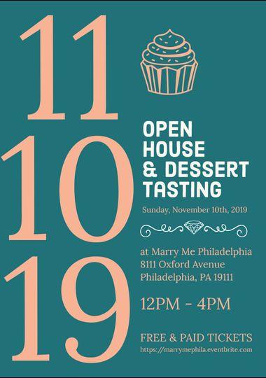 Open House & Dessert Tasting