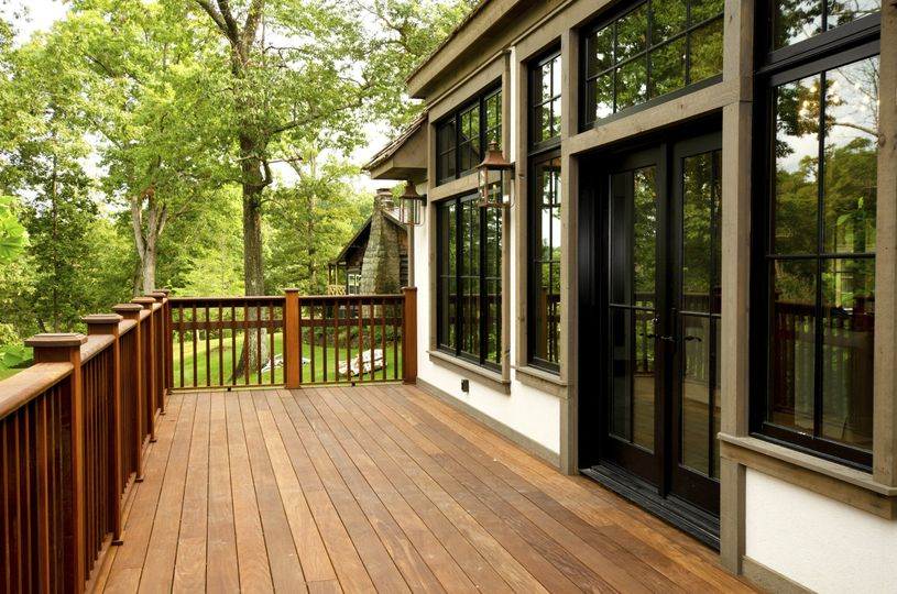 Back deck of the English Cottage
