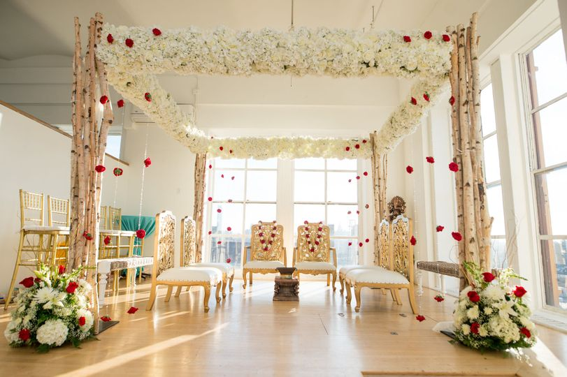 Stage for the couple