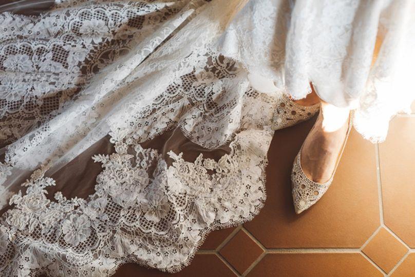 Soft romantic wedding dress
