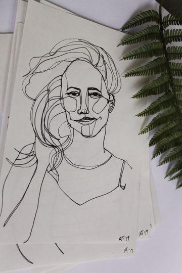 Drawing of Jen