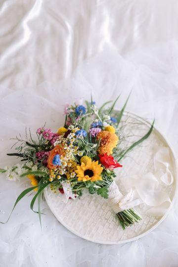 Wild flower bridal bouquet