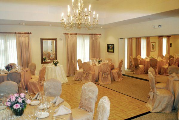 Room with chandelier
