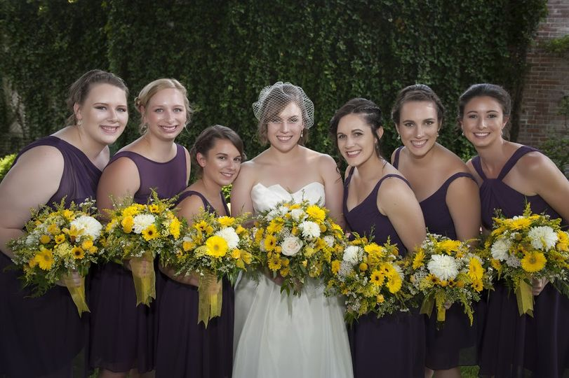 Wedding Party Bouquets by Ross