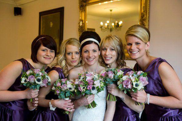 weddingbouquetpurplevintage