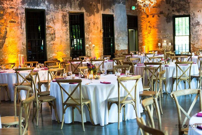Rustic reception area