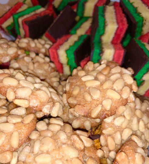 7 Layer & Pignoli Cookies