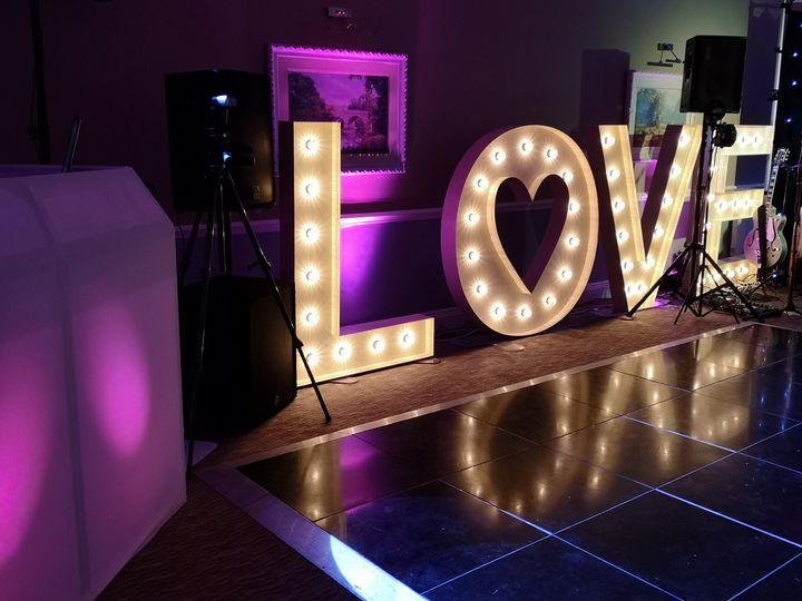 Backlit wedding decor