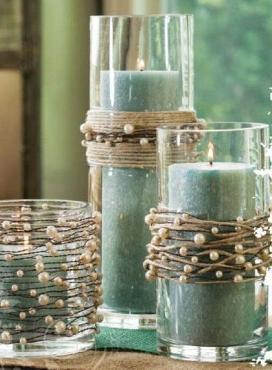 Add charm to centerpieces