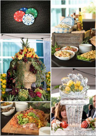 Upscale food displays