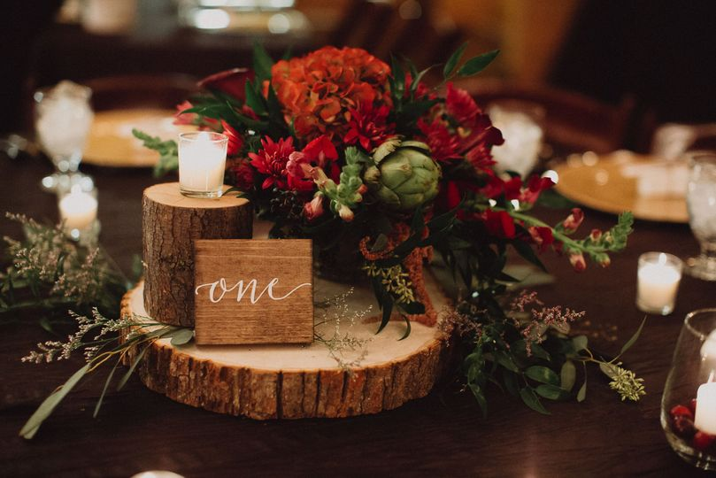 Rustic table decor | We Are The Brauns