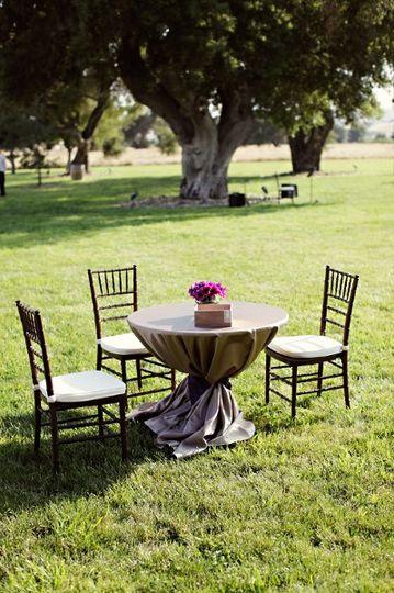 Outdoor wedding, cocktail hour