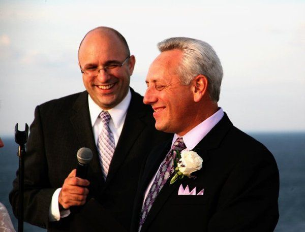 The groom and the officiant