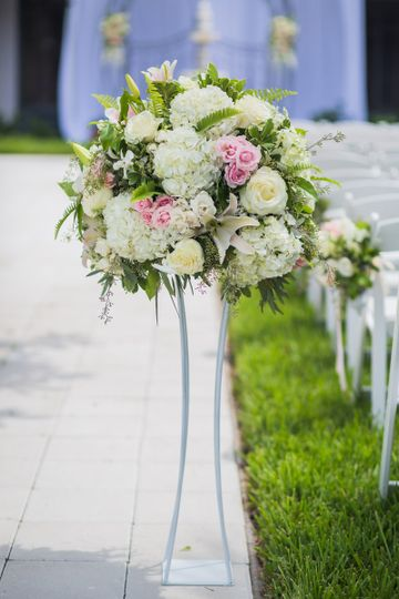 Bouquet on a stand
