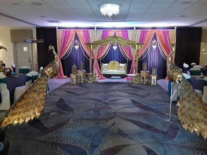 Banquet hall setup