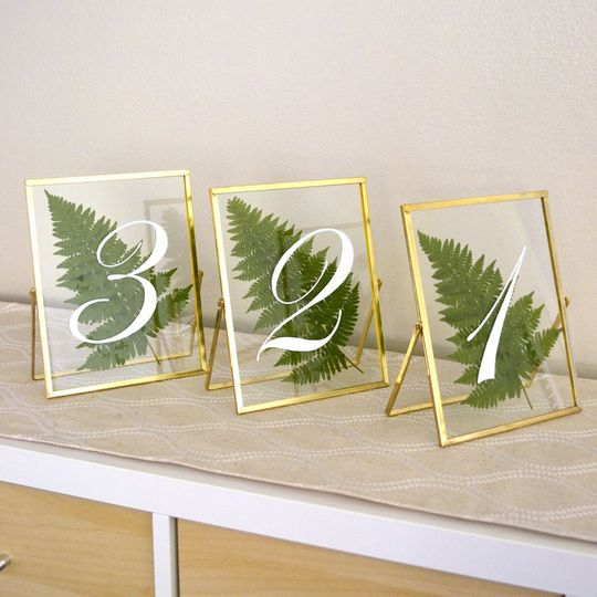 Hand Painted Wedding Table Numbers