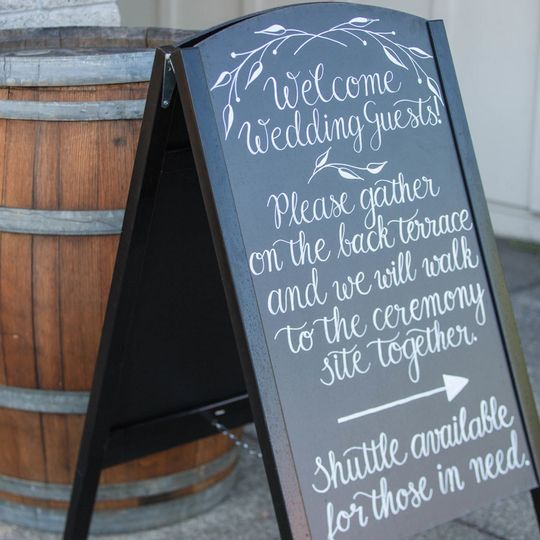 Handwritten Wedding Signage
