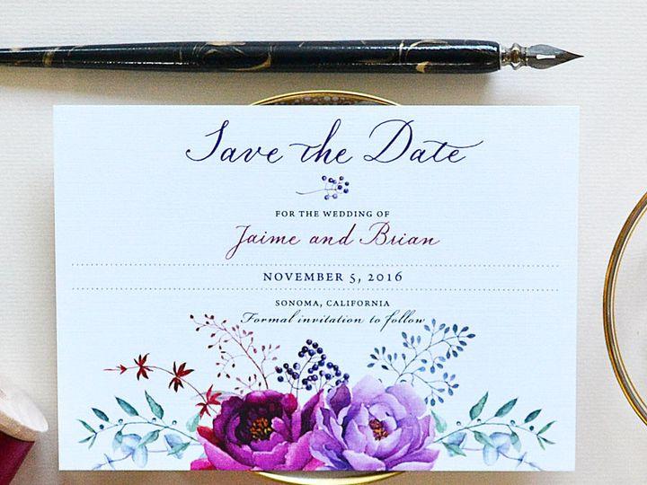Tmx 1472106358870 Calligraphy Wedding Invitations Burgundy Florals Santa Rosa wedding invitation