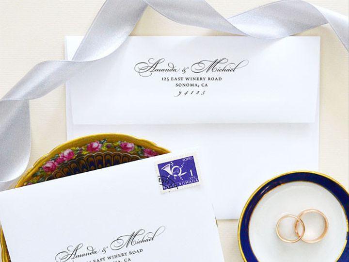 Tmx 1472106392843 Calligraphy Return Address Stamp Bickham Script Santa Rosa wedding invitation