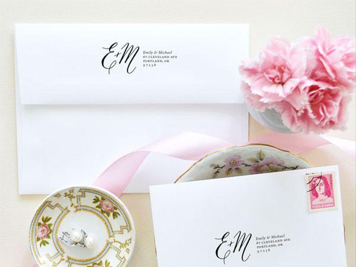 Tmx 1472106400715 Calligraphy Return Address Stamp Monogram Santa Rosa wedding invitation