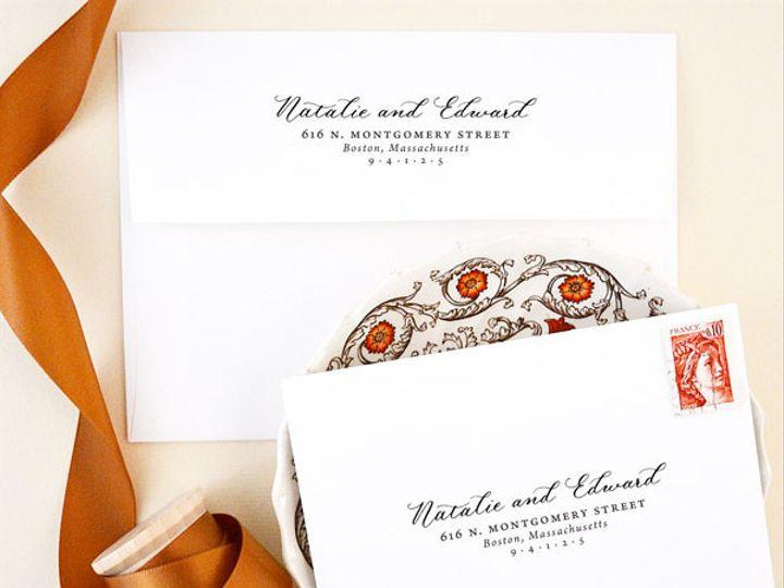 Tmx 1472106410189 Calligraphy Return Address Stamp Elegant Wedding Santa Rosa wedding invitation