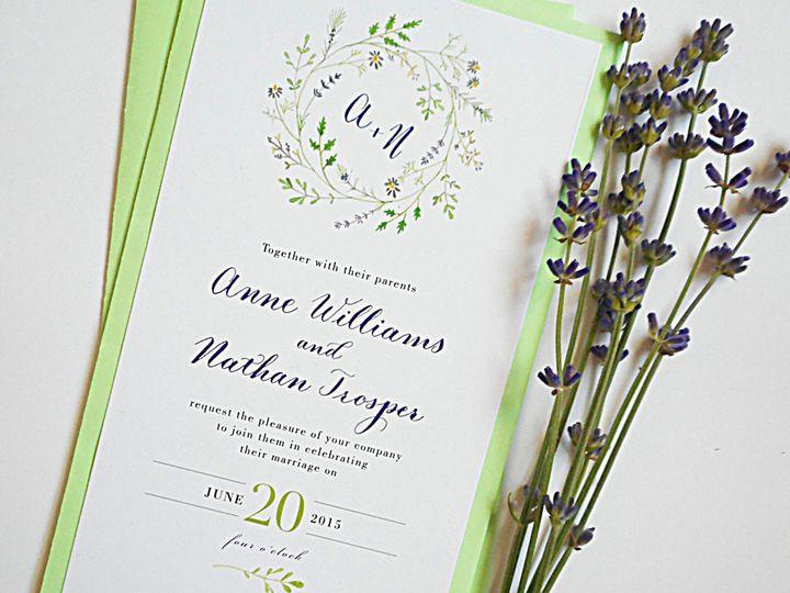 Tmx 1472106490653 Calligraphy Wedding Invitations Wildflower Wreath Santa Rosa wedding invitation