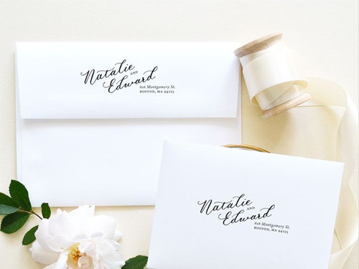 Tmx 1472106558157 Calligraphy Return Address Stamp Wedding Santa Rosa wedding invitation