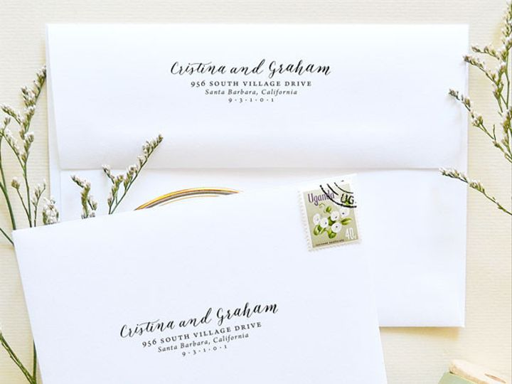 Tmx 1472106586070 Calligraphy Return Address Stamp Wedding Waving Sc Santa Rosa wedding invitation