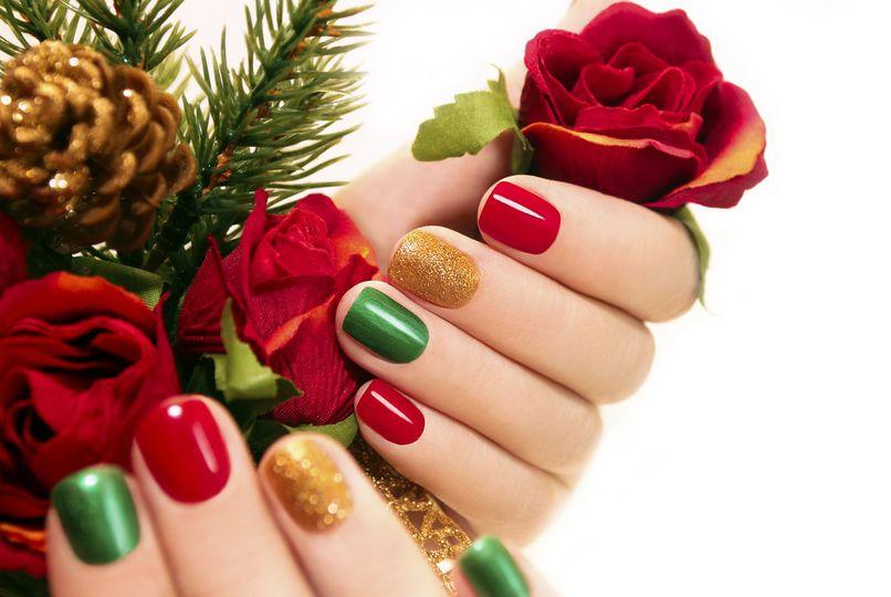 christmas nails m