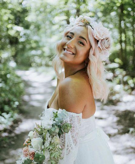 Bride w/ custom floral crown