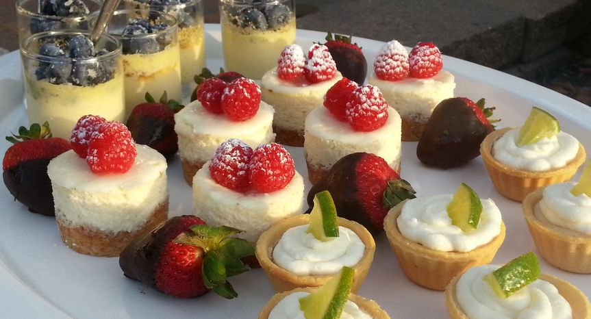 Desserts with fruit