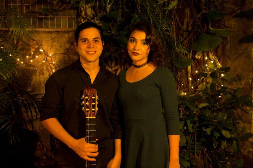 With guitarist Carlos Vazquez
